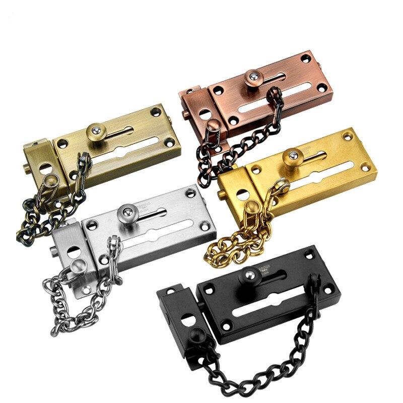 304 de acero inoxidable espesados Anti-robo cadena hebilla puerta Anti-robo de cerradura de cadena de seguridad perno de la puerta del Hotel Bolt