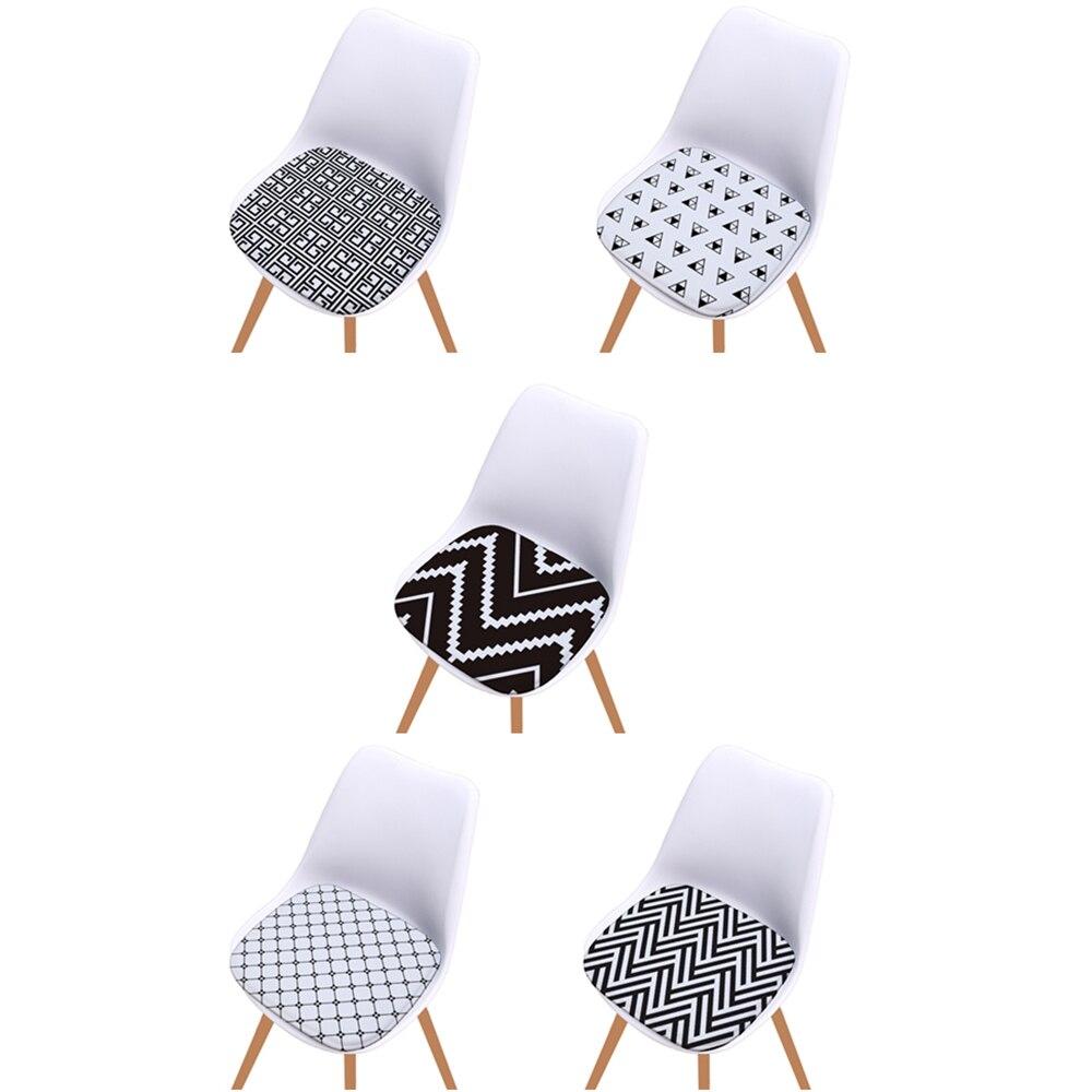 Мягкая фланелевая Подушка на сиденье с белым и черным бриллиантовым принтом, 40x40 см, Геометрическая Подушка на стул для украшения дома и кухни