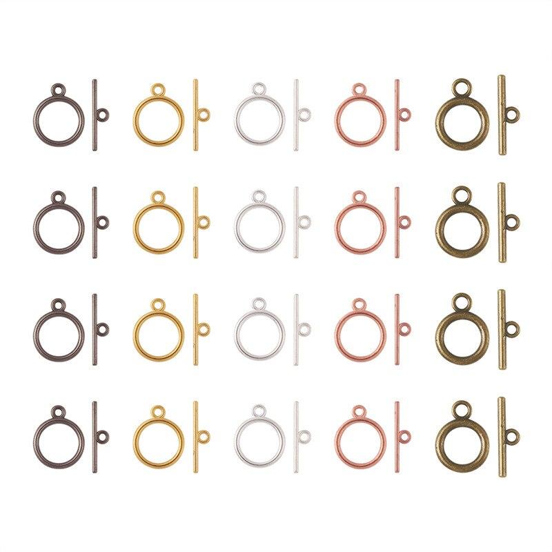 مجموعة من 700 مشبك تبديل من السبائك المستديرة ، موصلات على الطراز التبتي لصنع المجوهرات ، إكسسوارات DIY