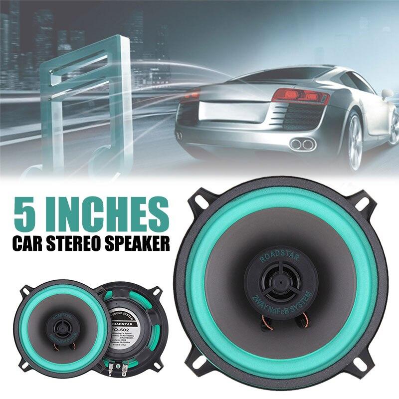 Lautsprecher Stereo Fahrzeug Koaxial Lautsprecher Auto Audio VO-502 100W 5 Zoll Generisches