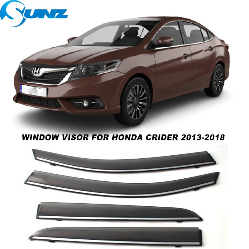 Side Window Visors For Honda Crider 2013 2014 2015 2016 2017 2018 Smoke Weathershields Sun Rain Deflectors SUNZ