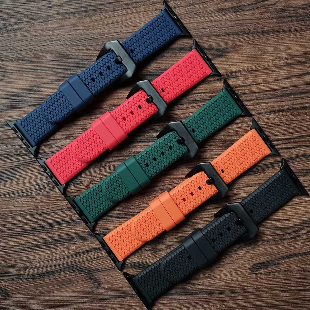 silicone strap for apple watch 42mm 38mm 44mm 40mm strap rubber bands for iwatch bracelet series 5 4 3 2 1 red blue green black 3D Silicone Strap for  Watch Band 42mm 38mm 44mm 40mm Strap Rubber Iwatch Bands for iWatch Bracelet Series 6/5/4/3/2/1