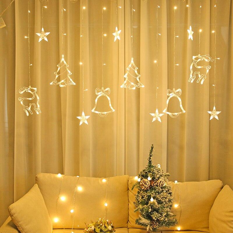 Lămpi de Crăciun LED de 3,5 m lumina cortină ghirlandă sticlă - Luminări festive - Fotografie 2