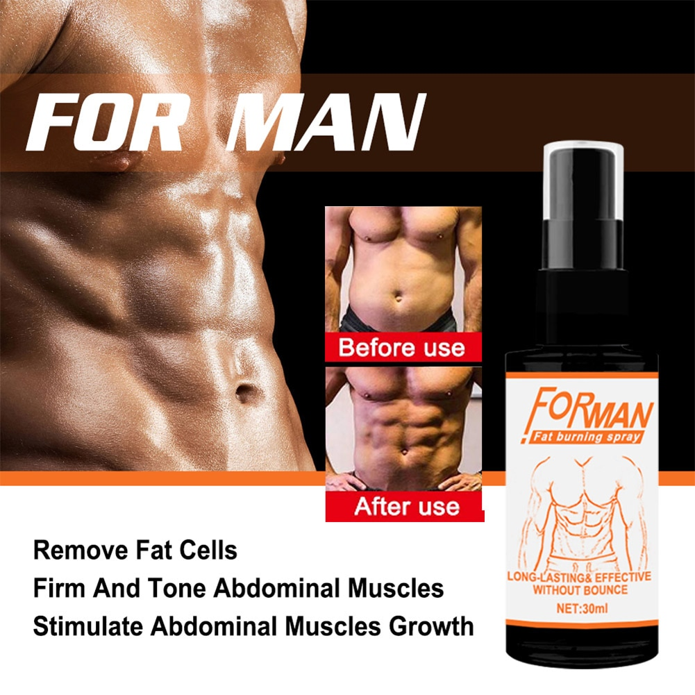 Powerful Abdominal Muscle Spray Anti Cellulite Burn Fat Safe Weight Loss Products Strong Men Fitness