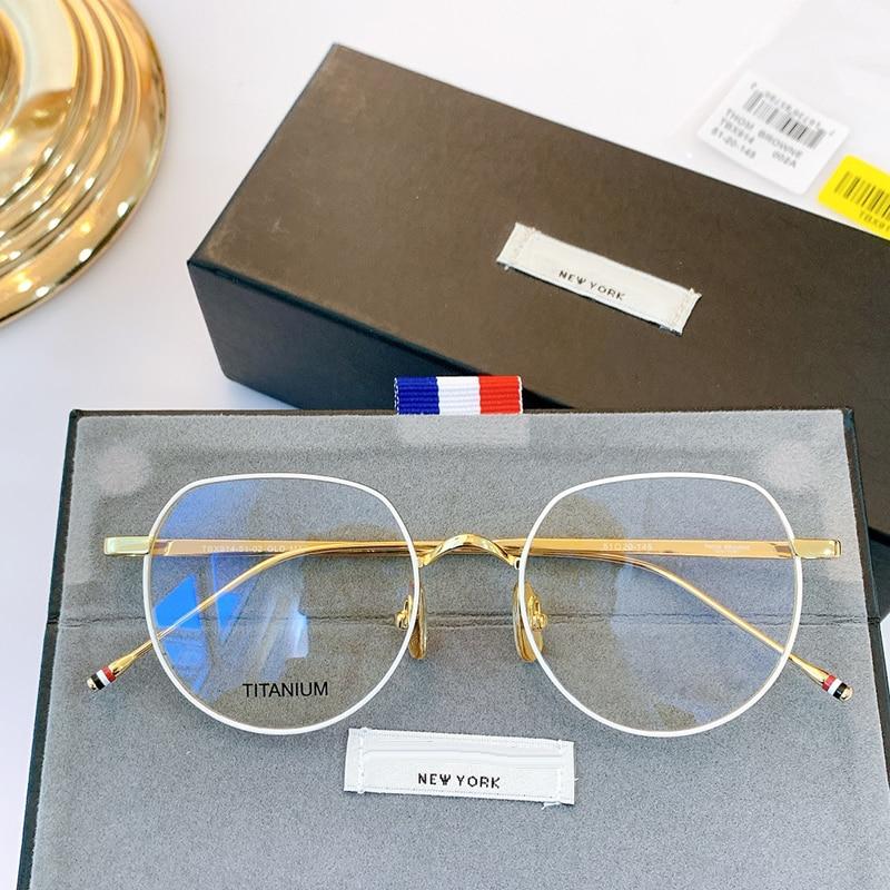 Thom Brand Design Titanium Round Optical Eyeglasses Frame Men Women TBX914 Glasses Myopia Prescription Eyewear With Original box