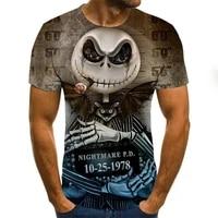 men clothes 2020 new mens summer skull print men short sleeve t shirt 3d print t shirt casual breathable funny t shirts