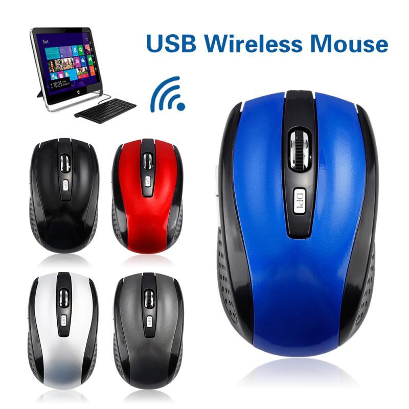 Ratón óptico inalámbrico de 2,4 GHz de 1600dpi para juegos Imac Pro Macbook PC ordenador portátil receptor USB Mini ratón portátil para CS