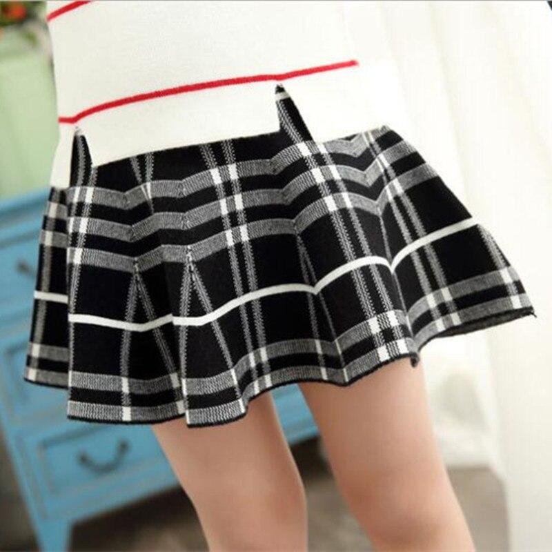 Купить с кэшбэком GGBAOFAN Girls Short Skirts 2021 Spring Summer Baby Girl Princess Jacquard Knitted Umbrella Skirt For 3-14 Years