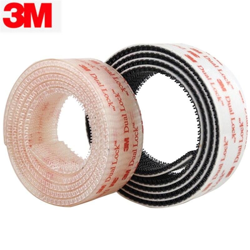 Velcros-Cinta adhesiva de doble bloqueo, sujetador reutilizable de seta transparente, 3M, SJ3550,...