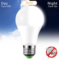E27 Dusk to Dawn Light Bulb 10W 15W AC220V 110V LED Sensor Bulb IP44 Outdoor Porch Lights Day Night Light Smart Auto on Off Lamp