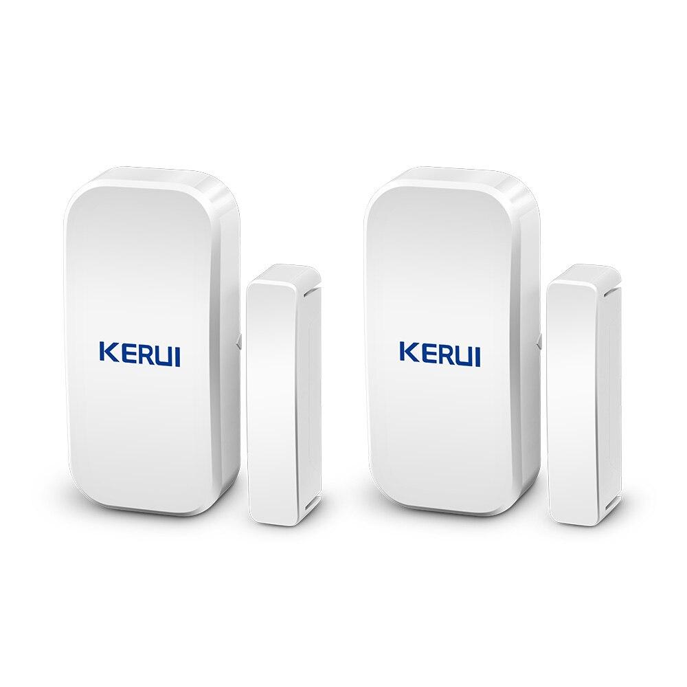 Kerui D025 2 uds, Sensor magnético inalámbrico para ventana de puerta, Sensor de espacio de 433MHz para sistema de alarma de seguridad para el hogar, teclado táctil
