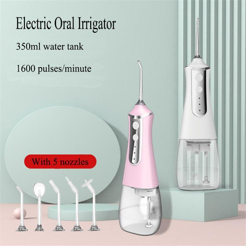 رائجة البيع المحمولة عن طريق الفم الري USB قابلة للشحن الأسنان المياه الخيط مقاوم للماء جيت للأسنان المنزل آلة تنظيف الأسنان