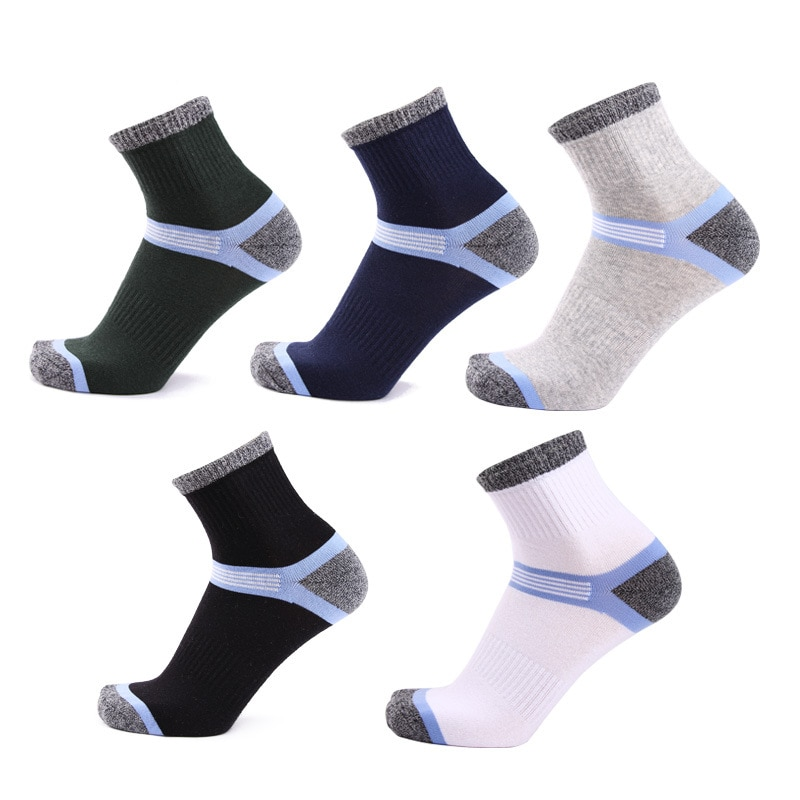 1 Pair of Pure Cotton Mens Socks for Running Outdoor Mountaineering Ventilating Comfortable and Anti Friction