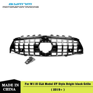 GT-Style Black Grille Front Bumper Car accessories For BENZ CLA200 220d Class W118