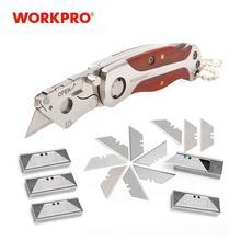 WORKPRO Portable KeyChain Knife Mini Folding Knife Camping Key Ring Knife with 55 MINI Blades
