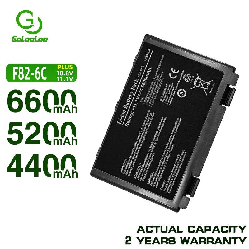 Bateria Do Portátil para Asus A32-f82 Golooloo K50id K50AF K51AC K51AB K51AE K40in K40ij K40 K50ij K60ij K70ab K70ic k61ic k50c k50in