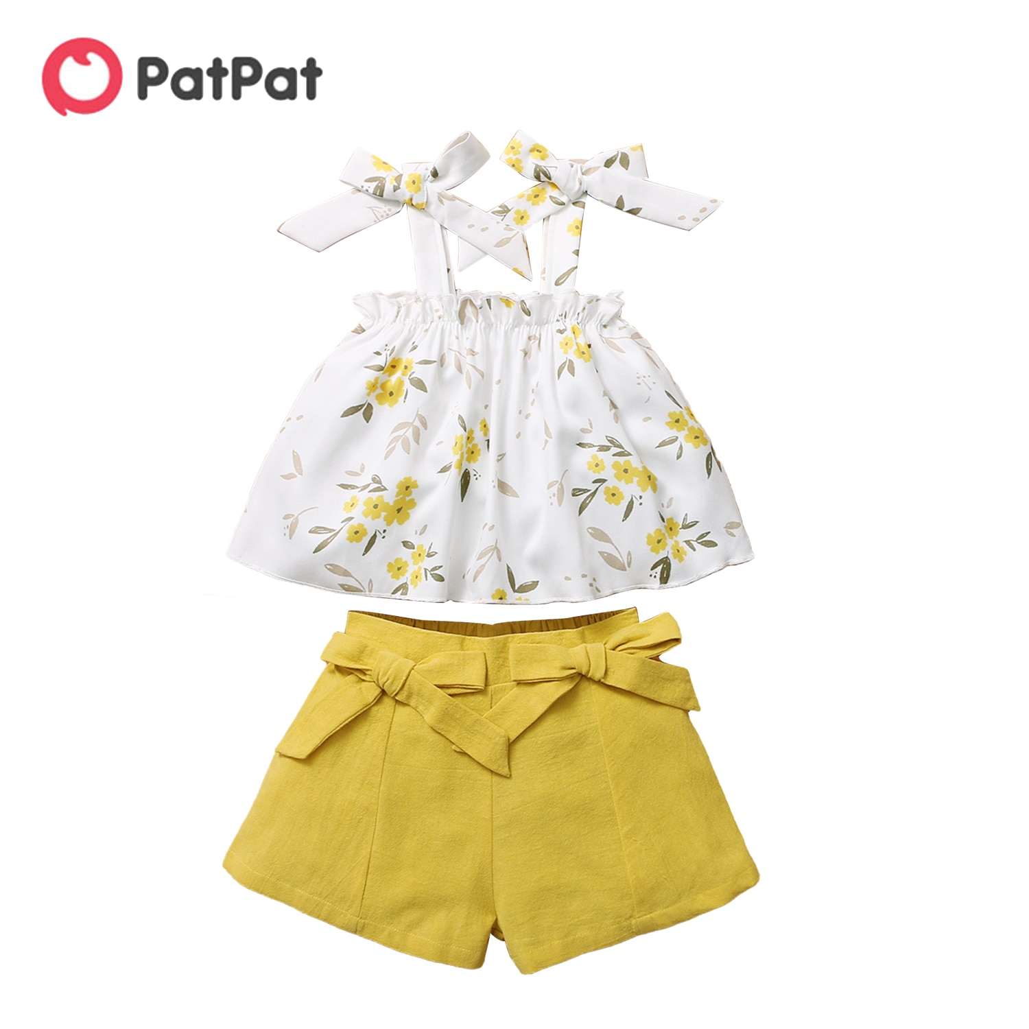 PatPat 2021 New Arrival Baby / Toddler Casual Basic Solid Tee and Shorts Set