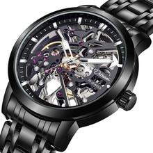 2021 Watch Men Hollow Automatic Mechanical Watch Skeleton New Fashion Man Watch Mens Watches Top Bra