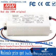 Prix de gros moyen bien APV-25-24 24V 1.05A meanwell APV-25 24V 25.2W unique sortie commutateur de courant LED