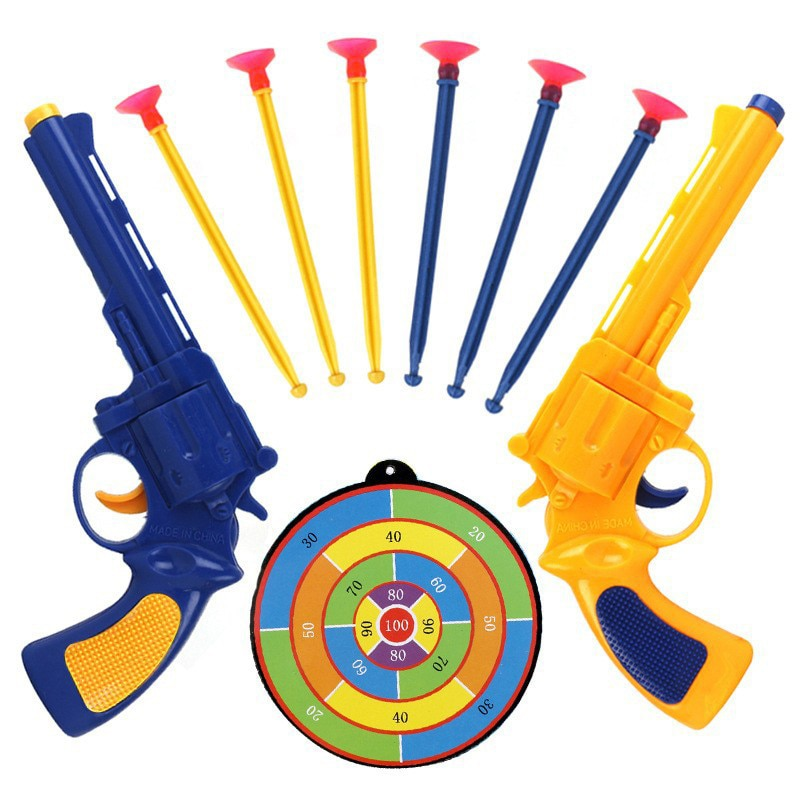 Фото - Parent-Child Interaction Suction Board Soft Bullet Gun Children Toy Gun Boy Puzzle Shooting Game Toy kids outdoor toys 2021 novelty kids bean bag toss game toys outdoor dart board game game toy set fun parent child interaction educational game