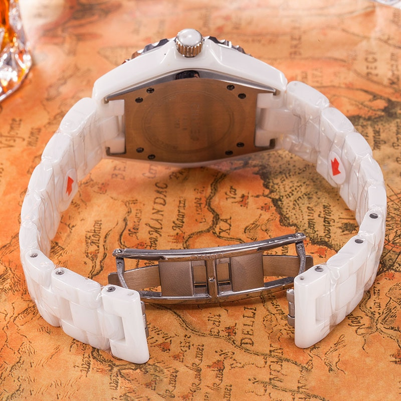 Luxury Brand Men Women Couple Watch Ceramics Sports Waterproof Wristwatch Black White Classic Vintage Men Watches Women enlarge