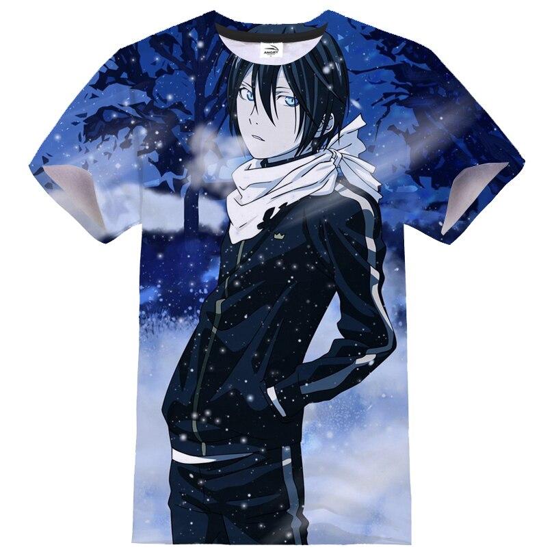 Camiseta con estampado 3D de Anime NORAGAMI, ropa de calle informal deportiva para hombre y mujer, camiseta de Hip Hop a la moda, camisetas con cuello redondo, camiseta Unisex