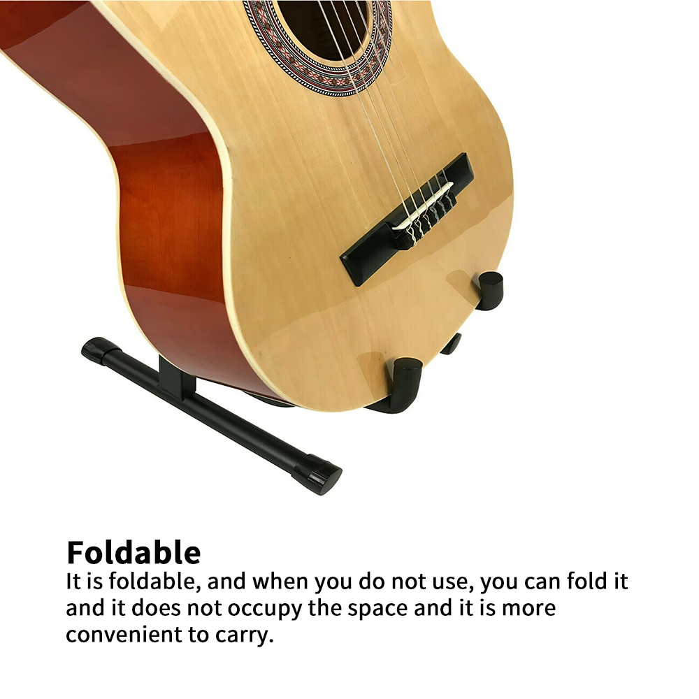Foldable Folding Lightweight Portable Guitar Bass Stringed Instrument Stand Holder For Professional Guitarist Loading Is 8kg enlarge