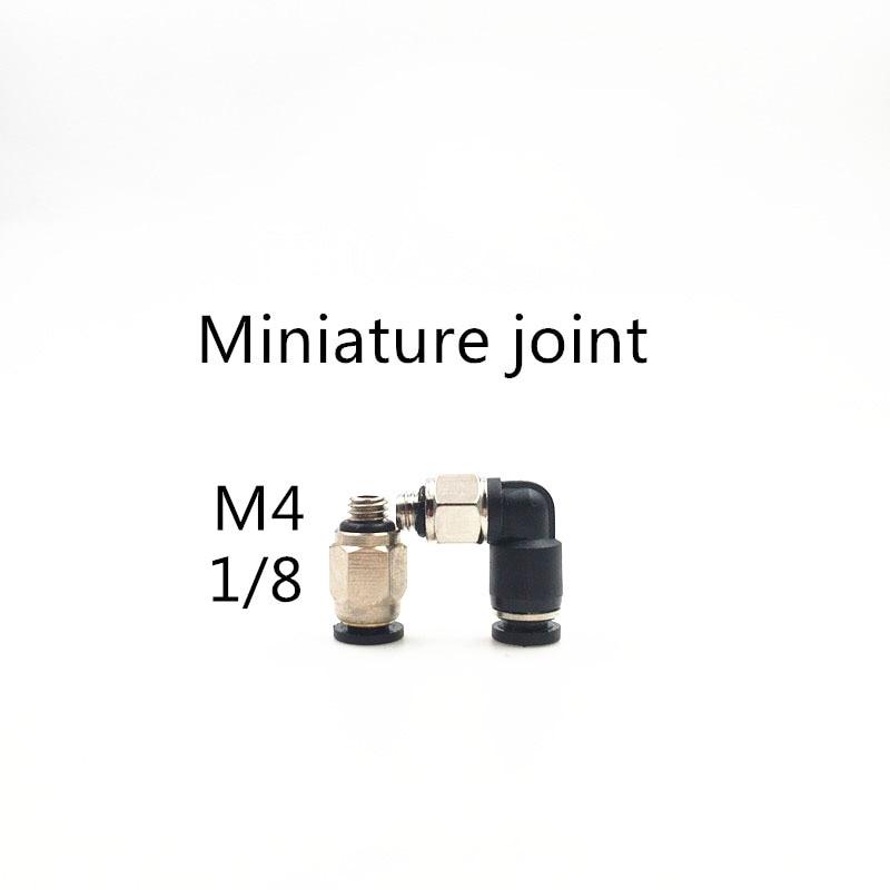 1 pieza conector de enchufe rápido neumático en miniatura, conector roscado recto PL PC3/4/6MM-M4, accesorio neumático 1/8
