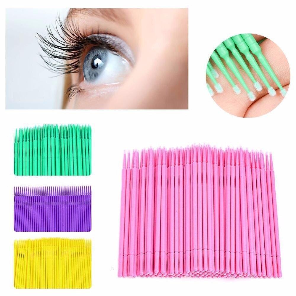 Щеточки-аппликаторы зубная микро-щетка одноразовые материалы прочные палочки для микро туши щеточки для ресниц Косметическая кисть 100 шт.