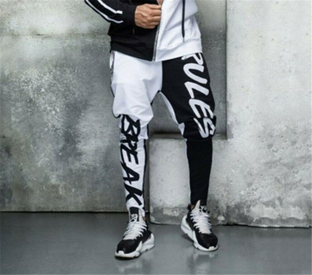 Мужские повседневные брюки в стиле хип-хоп, спортивные штаны, тренировочные джоггеры, спортивные брюки для тренировок