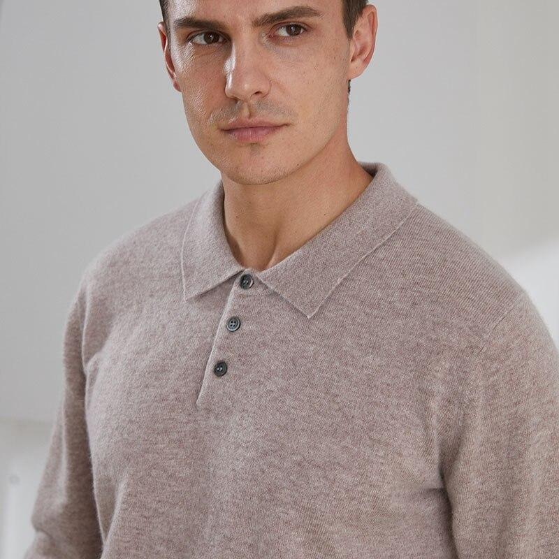 Популярные кофты-воротник мужские свитера 100% козья шерсть, кашемир, вязанный, джемперы 2020 с длинными рукавами на осень-зиму пуловеры