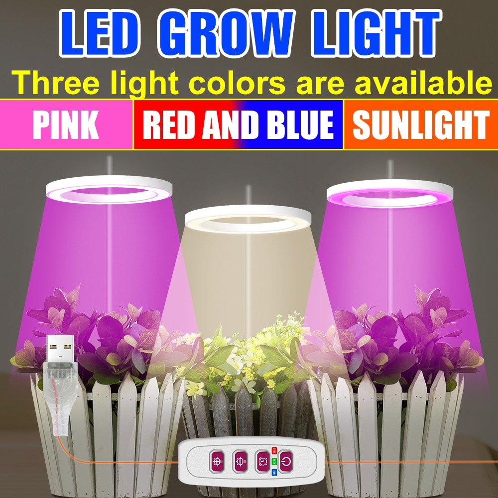 new 2 heads led grow light dual head 18w plant grow lamp led fitolampy with double on off switch for hydroponics grow system LED Phyto Grow Light USB Full Spectrum Plant Lamp 5V LED Bulb Dimmable LED Hydroponics Fitolampy Greenhouse Flower Grow Lighting