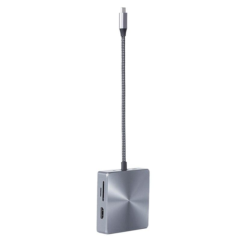 10 في 1 USB C محور 2 HD-MI RJ45 إيثرنت 3XUSB3.0 منافذ 100W PD SD TF بطاقة قارئ 3.5 مللي متر يا USB C محور