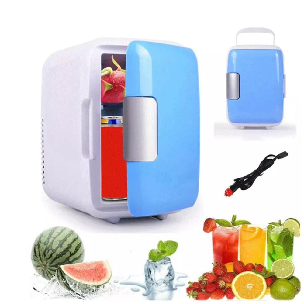 Автомобильный холодильник 4 л, портативный охладитель, дорожный холодильник для напитков, фруктов, косметики, макияжа, мини-холодильник