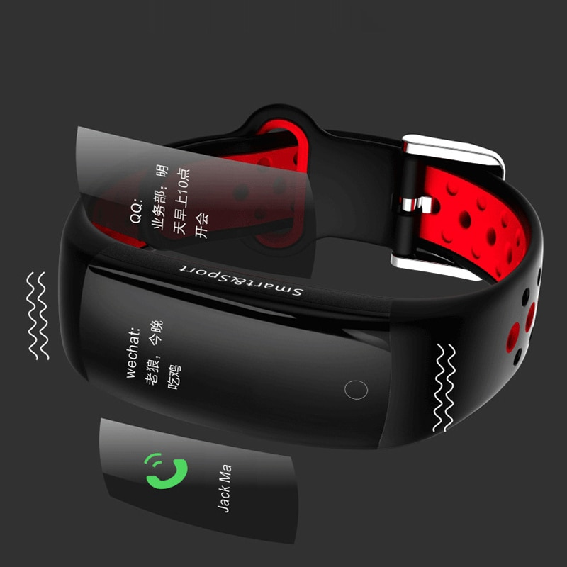 The new Q6S smart color screen bracelet watch LCD large screen blood pressure heart rate step counter IP68 waterproof sports K4