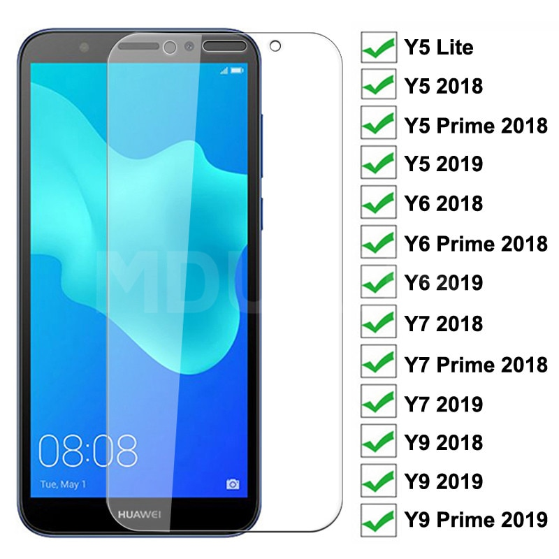 9H Tempered Glass For Huawei Huawei Y5 Lite Y5 Y6 Y7 Prime 2018 2019 Screen Protector Huawei Y9 2018