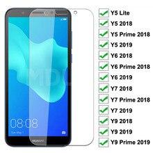 9H Tempered Glass For Huawei Huawei Y5 Lite Y5 Y6 Y7 Prime 2018 2019 Screen Protector Huawei Y9 2018
