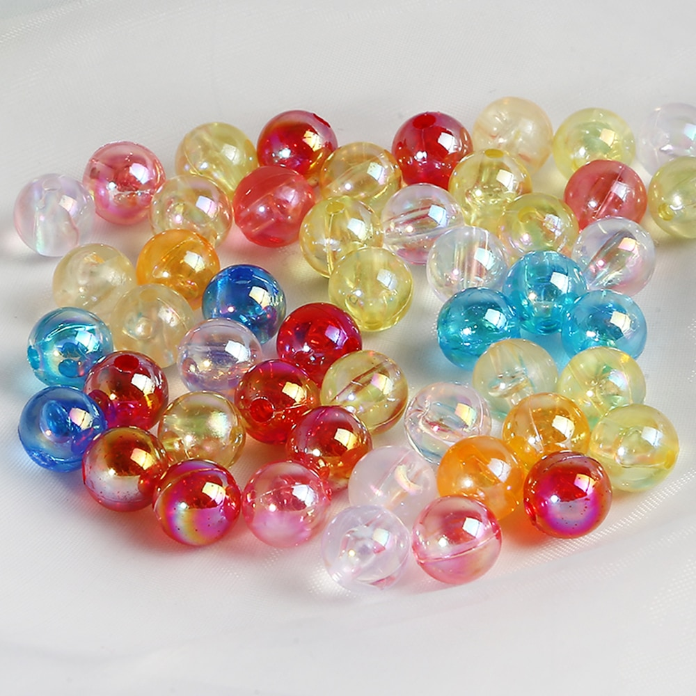 Novo barato 50/100 pçs/lote 6/8/10mm candy ab cor redonda acrílico grânulo solto espaçador contas para fazer jóias diy pulseira brinco