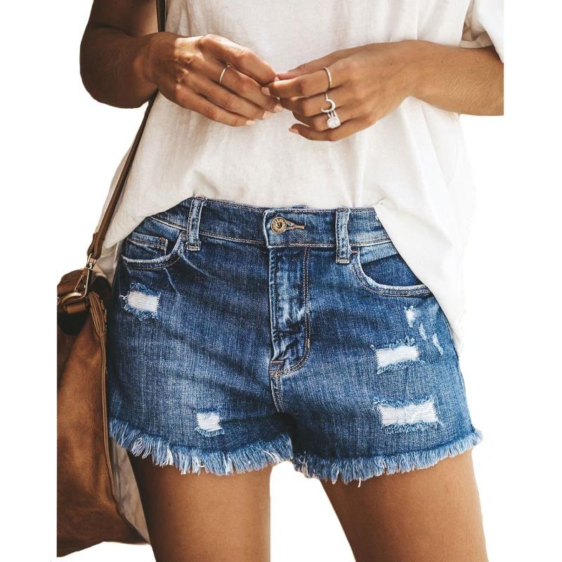 Summer Fashion Ripped Tassel Denim Shorts Women Hot Pants Spring Casual Home Commuting Ladies Jeans Spodnie Damskie Vaqueros