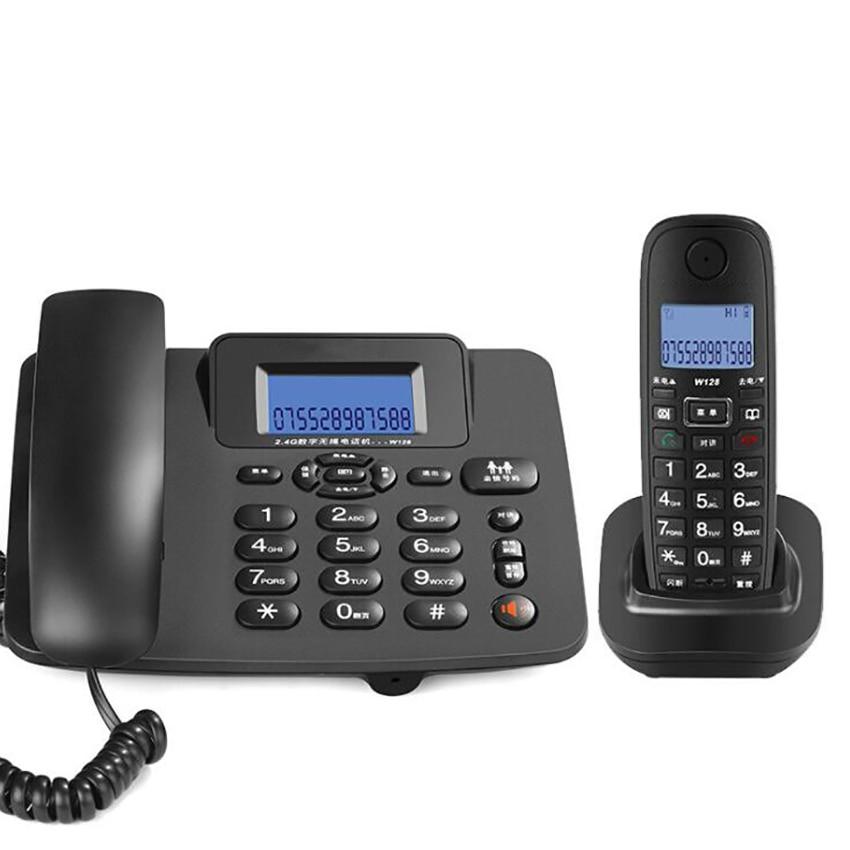2.4G حبالي/نظام هاتف لاسلكي مع 1 جهاز الرد على الهاتف ، مؤتمر 3 اتجاهات ، 300 متر طويلة المدى ، هاتف لاسلكي