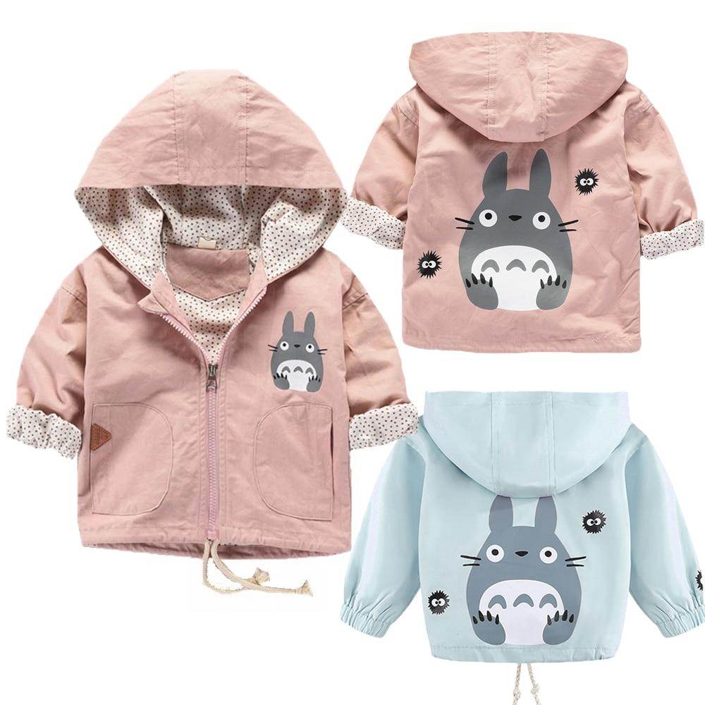 Baby Girls Coats Cartoon Totoro Hoodies Jacket For Girls Autumn Kids Sweatshirt Lovely Baby Kids Windbreaker Children Outerwear