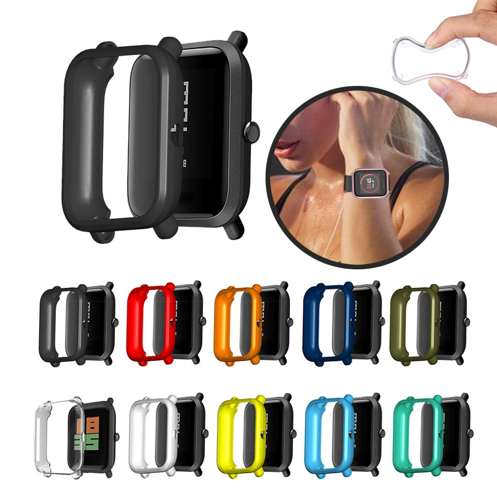 Soft TPU Case Cover Shell Protector For Xiaomi Huami Amazfit Bip Youth/Lite  Screen Protector protection case for huami amazfit bip s replacement pc watch case cover shell frame protector for xiaomi huami amazfit bip lite