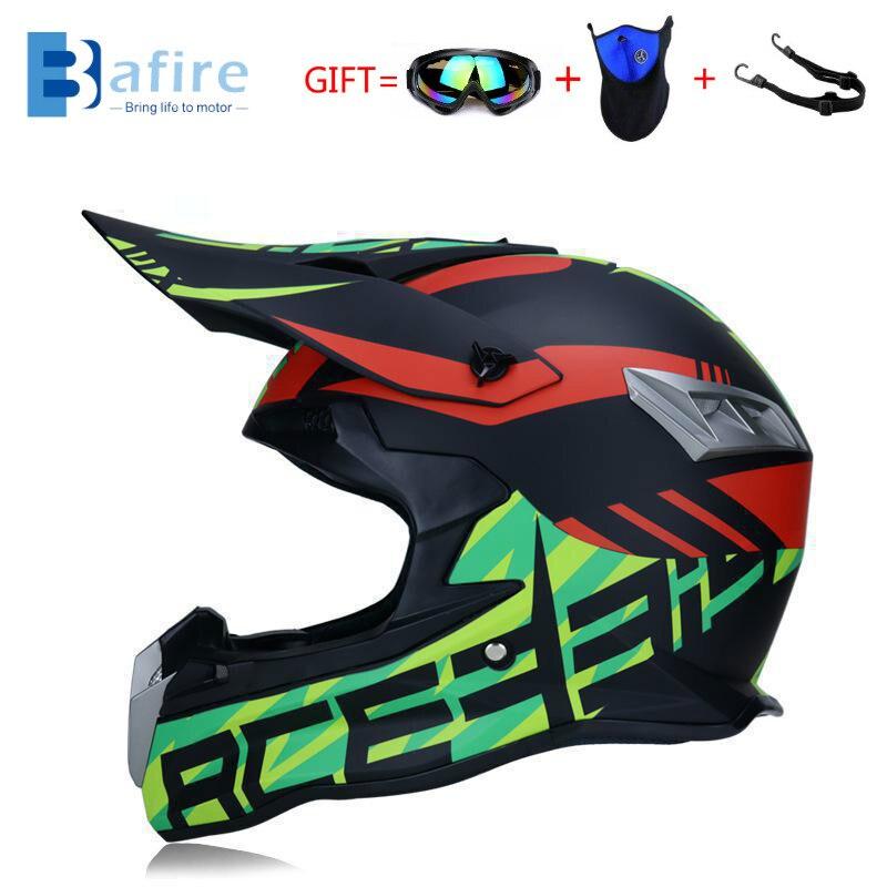 BAFIRE-Casco De Motocross profesional ATV, Casco De Moto De carreras, todoterreno, Dh,...