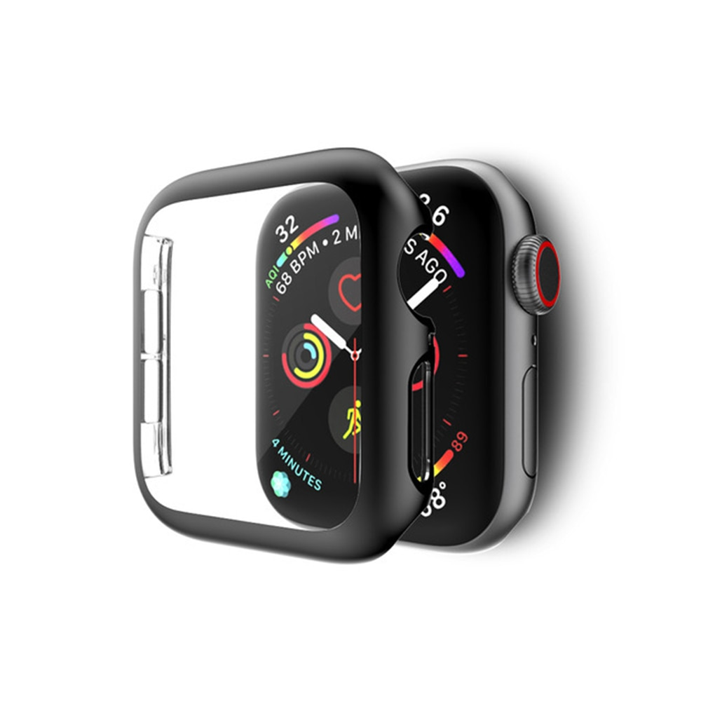 watch cover case for apple watch 6 5 4 3 2 1 se 44mm 42mm 40mm 38mm colorful screen full protector shell for iwatch watch case Cover For apple Watch case 44mm 40mm iwatch case 42mm 38mm screen protector bumper accessories for apple watch series 6 5 4 3 SE