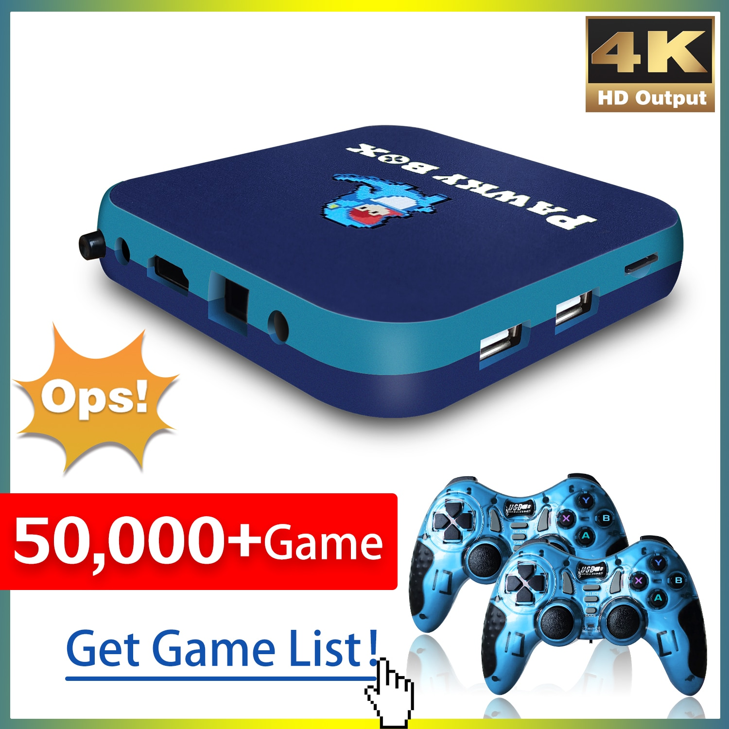 Game Console for PS1/PSP/DC 50000+ Games Super Console WiFi Mini TV Kid Retro Video Game Player Support Wireless Controllers