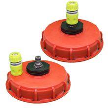 2020 nuevo plástico IBC tapa del tanque tapa Bung adaptador con enchufe conector de inyección de agua