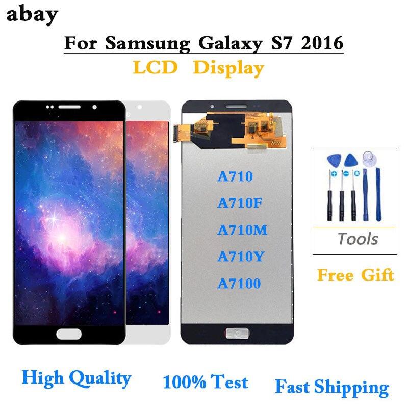 Para Samsung Galaxy A7 2016 A710 A710F A710M A710Y A7100 LCD pantalla táctil digitalizador montaje 5,5 reemplazo OLED/TFT