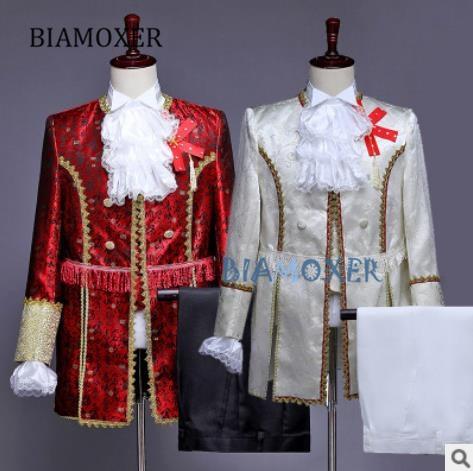 Biamoxer الكبار المحكمة اللباس الأوروبي الرجال الأمير الساحرة تأثيري حلي