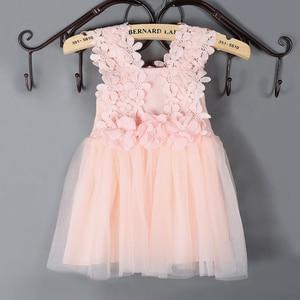 Girls Casual Dresses Girls' Lace Crocheted Dresses Sling Mesh Girls Dress Kids Clothes Flower Girl Dresses Party Dress Girls