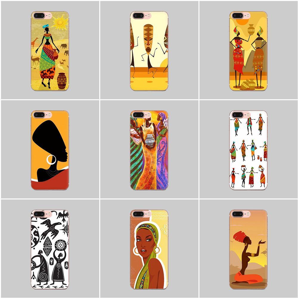 Funda transparente de TPU transparente para mujeres de África para LG G2 G3 G4 G5 G6 G7 K4 K7 K8 K10 K12 K40 Mini Plus Stylus ThinQ 2016 2017 2018